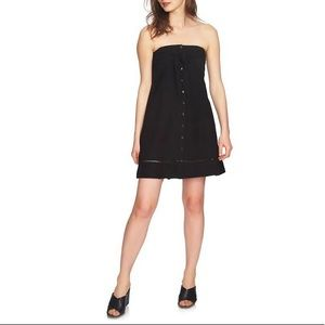 NWT 1.State Strapless Tie Front Button Dress | XS